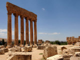 Ancient Roman Ruins of Baalbek  North-East of Beirut  in the Bekaa Valley  Lebanon  July 3  2006