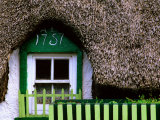 Thatched Cottage Window and Windowbox Detail  Mooncoin  Ireland
