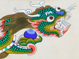 Painting of Dragon  Thimphu  Bhutan