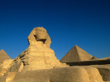 The Sphinx  Pyramids at Giza  Egypt