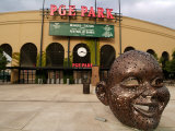 Bronze Face at PGE Park  Home of the Portland Beavers and Portland Timbers  Portland  Oregon  USA