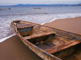 Wooden Boat Looking Out on Banderas Bay  The Colonial Heartland  Puerto Vallarta  Mexico