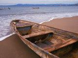 Wooden Boat Looking Out on Banderas Bay  The Colonial Heartland  Puerto Vallarta  Mexico
