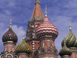 Onions of St Basil's Cathedral  Red Square  Moscow  Russia