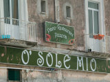 O'Sole Mio Pizzeria Sign  Ischia  Bay of Naples  Campania  Italy