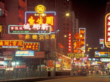 Neon Lights at Night  Nathan Road  Hong Kong  China