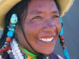 Tibetan Girl, Tibet, China Papier Photo par Keren Su