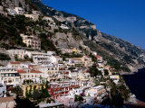 Houses Terraced into Amalfi Coastline  Positano  Italy
