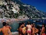 Children at Port  Spiaggia Grande  Positano  Italy