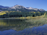 Mountains Reflected in Lost Lake  Crested Butte  Colorado  USA