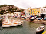 Boats in Port of Capri Island  Italy