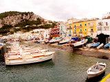 Boats in Port of Capri Island  Italy