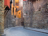 Subterranean Street with Houses Built Above  Guanajuato  Mexico