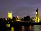 Big Ben and the Houses of Parliament at Night  London  England