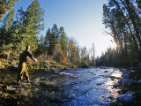 Fly-fishing the Jocko River  Montana  USA