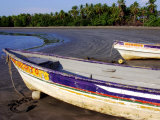 Fishing Boats Moored on Sand at Morro Negrito  Panama