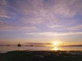 Udale Bay and Oil Rigs at Dawn  Ross-Shire