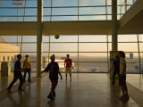 Playing Soccer at Ben Gurion Airport  Tel Aviv  Israel