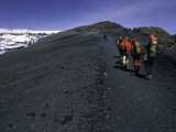 Climbers Heading up a Rocky Trail  Kilimanjaro