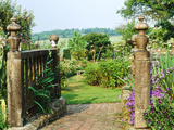 View to Enclosed Garden &amp; Countryside Somerset Lodge