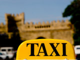Taxi Sign in Front of Samaxi Gate  Baku  Azerbaijan