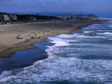 Wild Waves on Ocean Beach Seen from Sutro Heights Park  Outer Richmond  San Francisco  USA