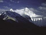 Shadowed Ridge Line Towards Mount Everest  Tibet