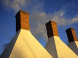 Detail of Smoke House Chimneys  Snogebaek  Denmark