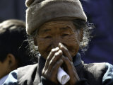Old Woman with Hands to Face  Nepal