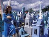 Cemetery Statues  Paintings  Graves  Crosses  and Family Tombs  Yucatan  Mexico