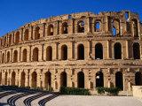 Exterior of Colusseum  a Roman Monument  El-Jem  Tunisia