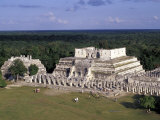 Temple of Columns  Chichen Itza Ruins  Maya Civilization  Yucatan  Mexico