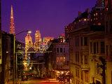Downtown at Dusk  San Francisco  USA