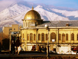 Emam Khomeini Square with Backdrop of Zagros Mountains  Hamadan  Iran