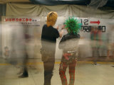 Local Punks in Deep Discussion  Shinjuku Station  Tokyo  Japan