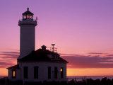 Pt Wilson Lighthouse  Entrance to Admiralty Inlet  Washington  USA