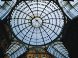 Glass Dome of Galleria Vittorio Emanuele II  Milan  Italy