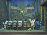 Town Meeting with Murals by Rodolfo Morales  Oaxaca  Mexico