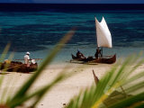 Fishing Boats  Lokobe Reserve  Madagascar