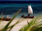 Fishing Boats  Lokobe Reserve  Madagascar