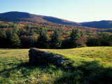 Stone Wall in the Green Mountains  Vermont  USA