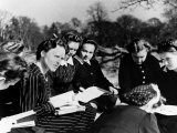 A Group of Polish Women at the Marie Curie School for Girls Study English with Their Teacher