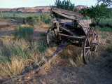 Old Wagon Behind the Cow Canyon Trading Post  Bluff  Utah  USA