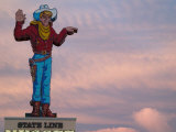Wendover Will Welcomes You  State Line Casino at Dusk  Utah-Nevada State Line  USA