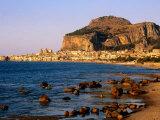 Seaside Resort From Across Sea  Cefalu  Italy