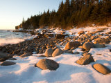 Winter Sunrise in Monument Cove  Acadia National Park  Maine  USA