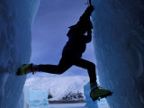 Ice Climbing on Portage Lake  Chugach National Forest  Alaska  USA