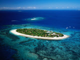 Aerial of Treasure Island  Fiji