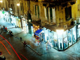 Night Traffic on Via Toledo  Naples  Italy