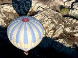 Ballooning Over Lunar Landscape  Cappadocia  Turkey